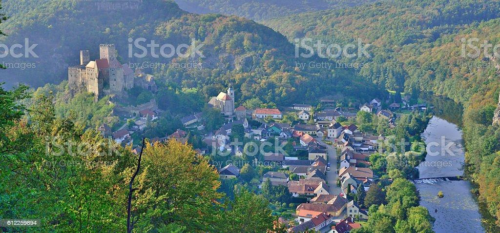 Hardegg, district of Hollabrunn in Lower Austria, Europe stock photo