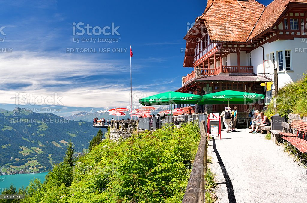 Harder Kulm restaurant, Interlaken, Switzerland stock photo