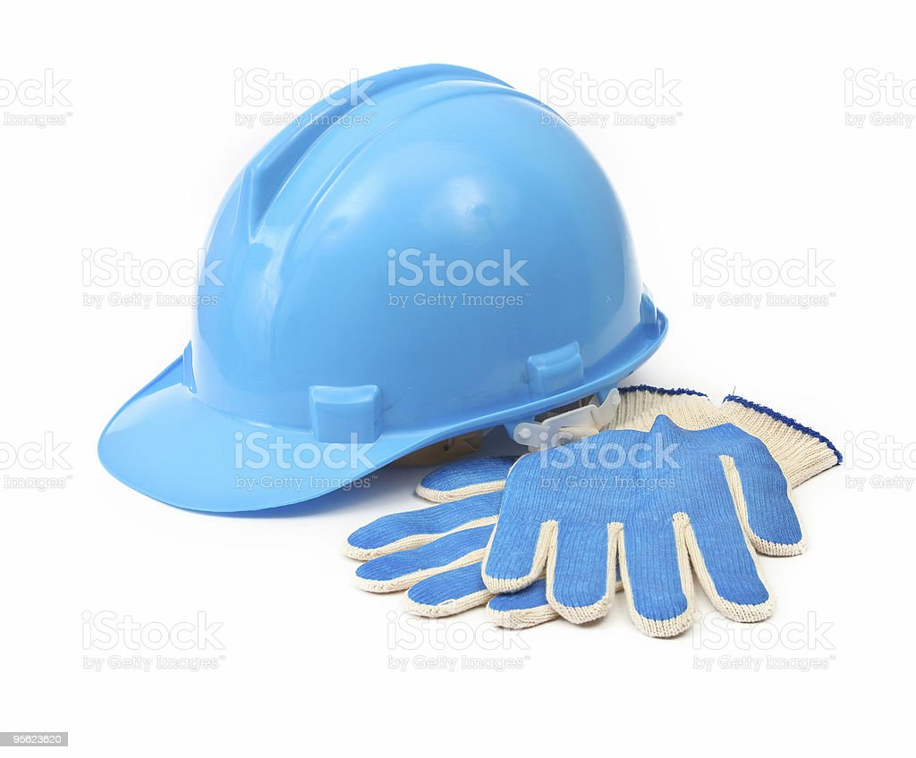hardhat and gloves royalty-free stock photo