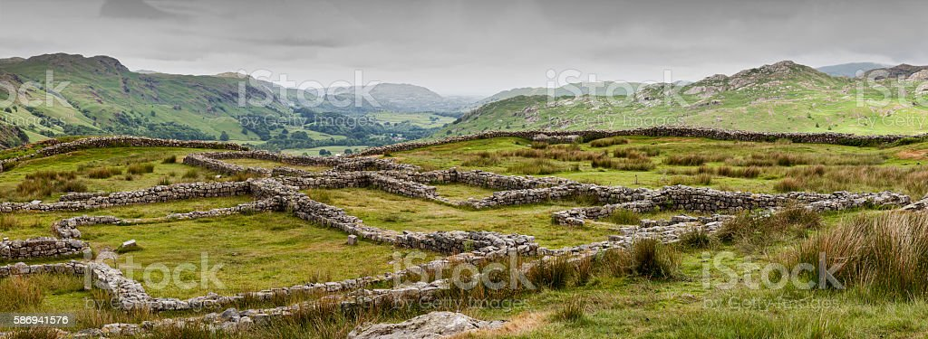 Hardknott Fort stock photo