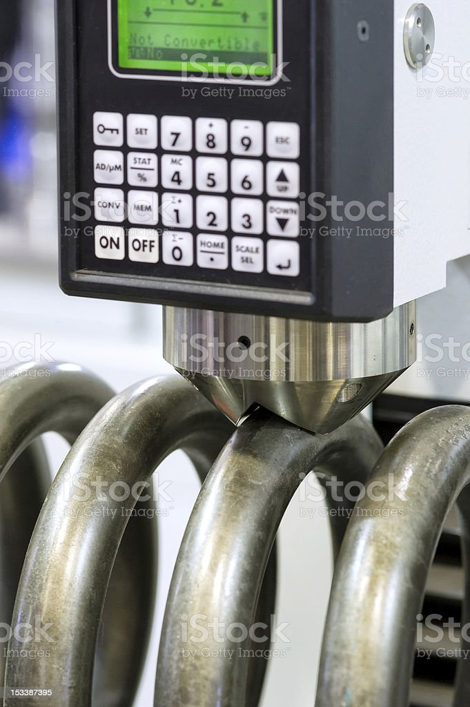Hardness measurement stock photo