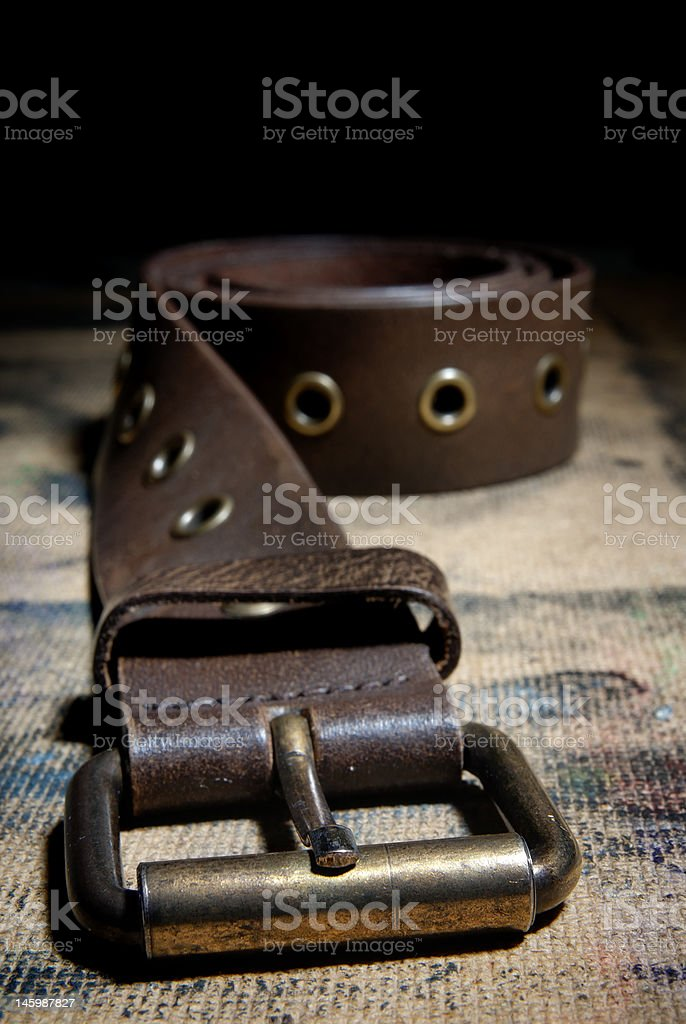 Hardness of the belt stock photo