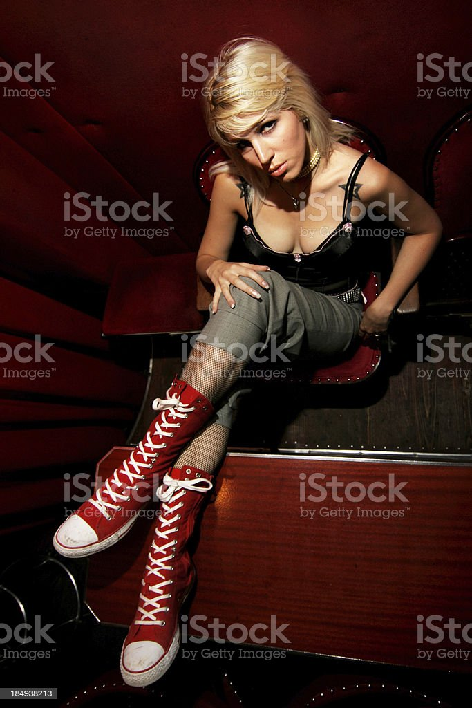 Hardrock chick stock photo