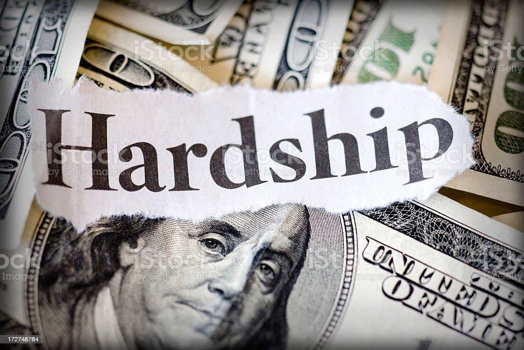 hardship stock photo