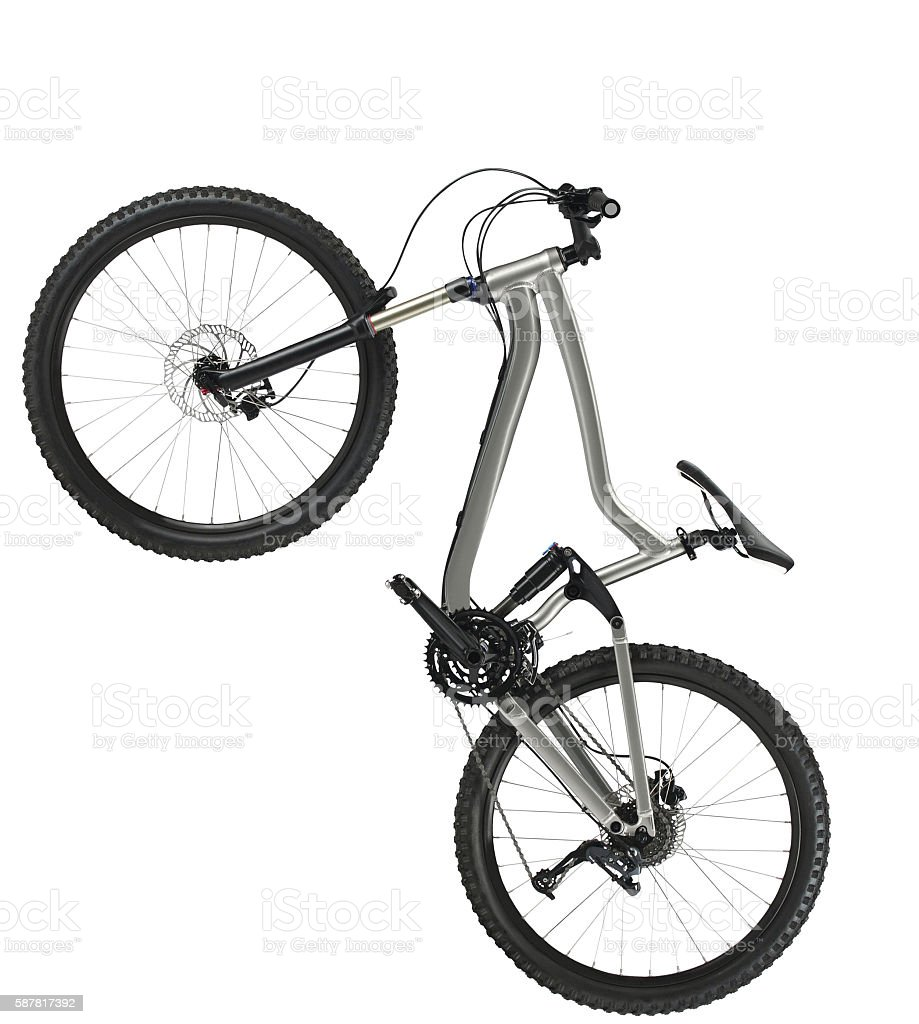 hardtail mountain bike stock photo
