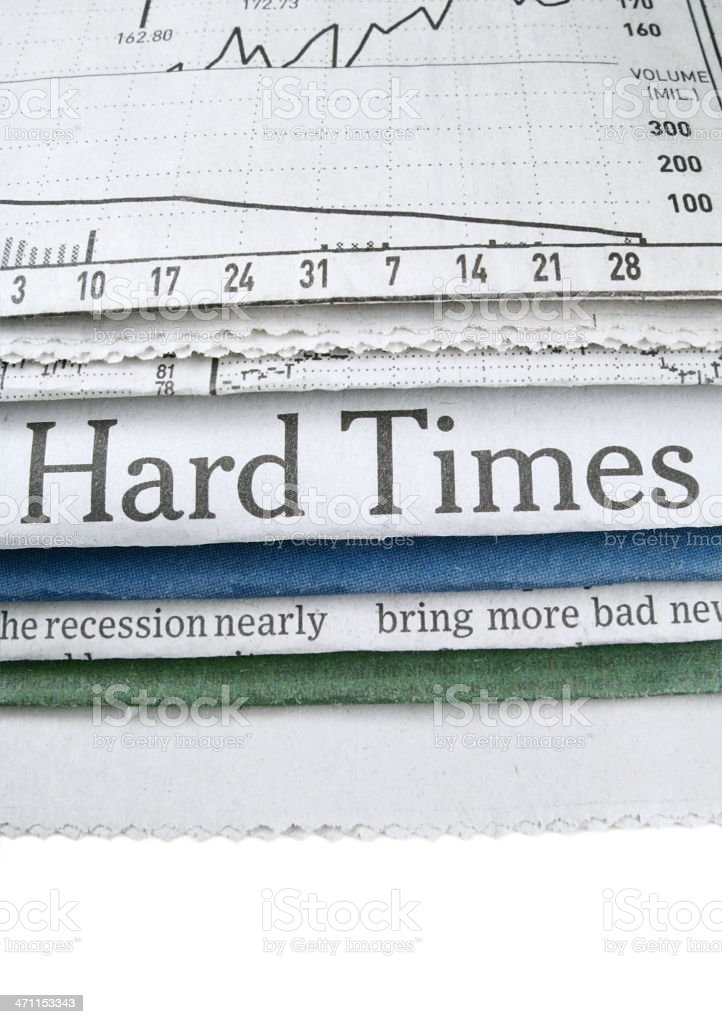 HardTimes Headline stock photo