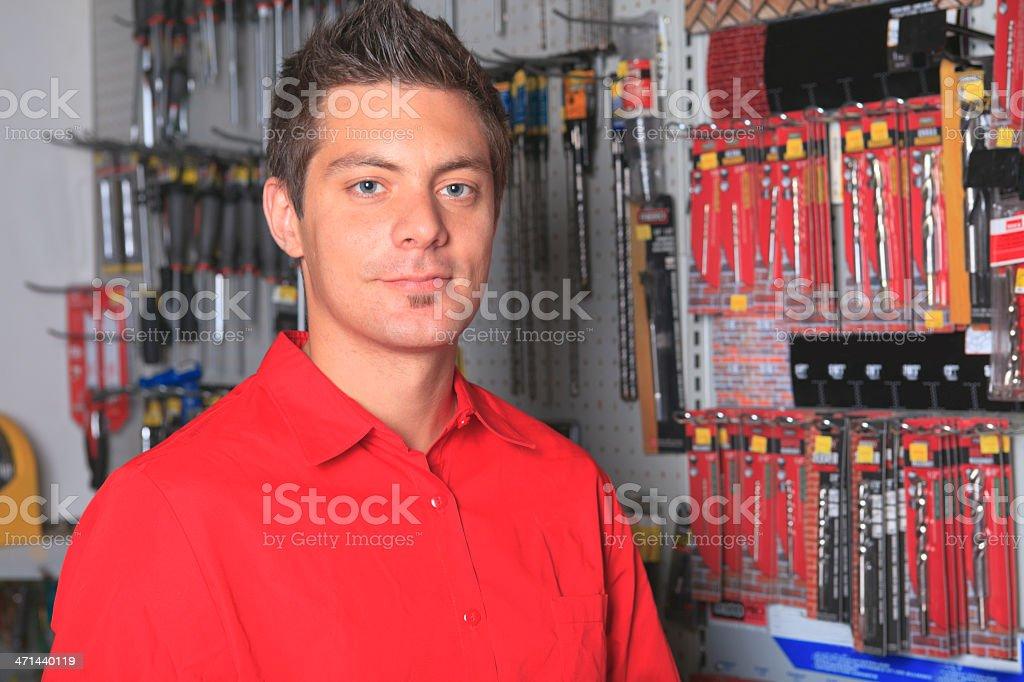 Hardware Employee - Seller royalty-free stock photo