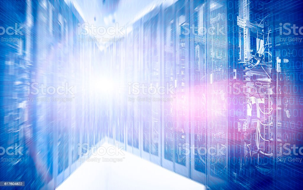 hardware in data center motion stock photo