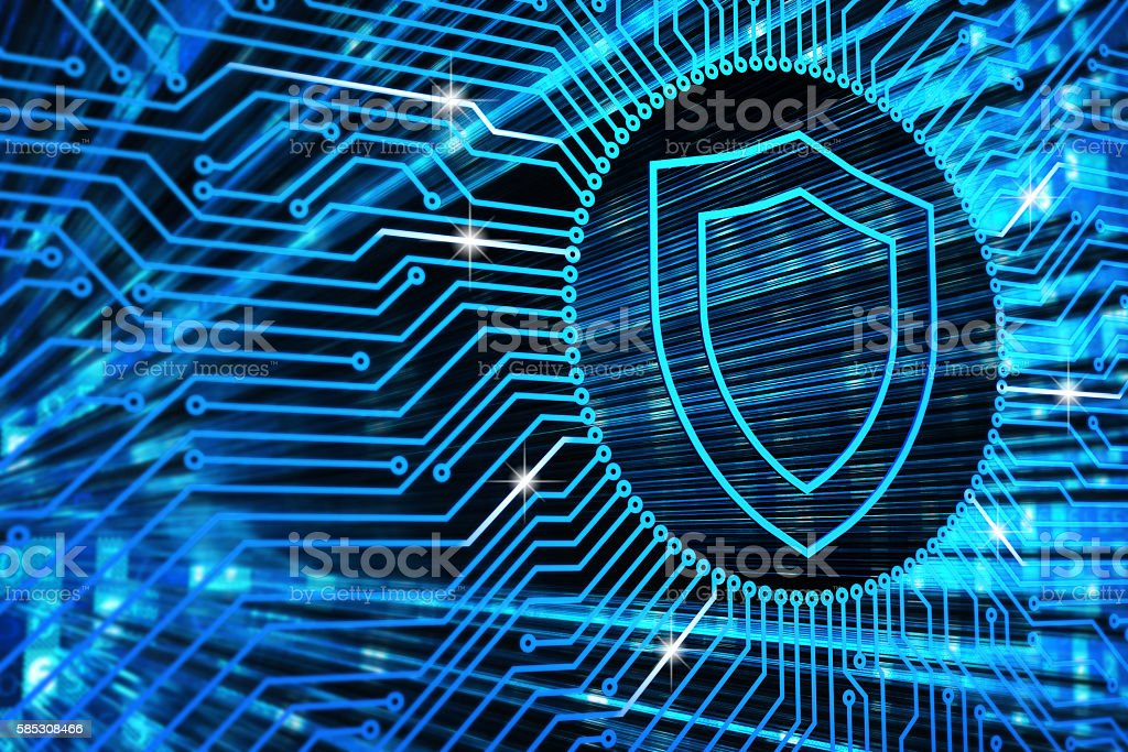 Hardware security, computer data protection and electronic technology concept stock photo