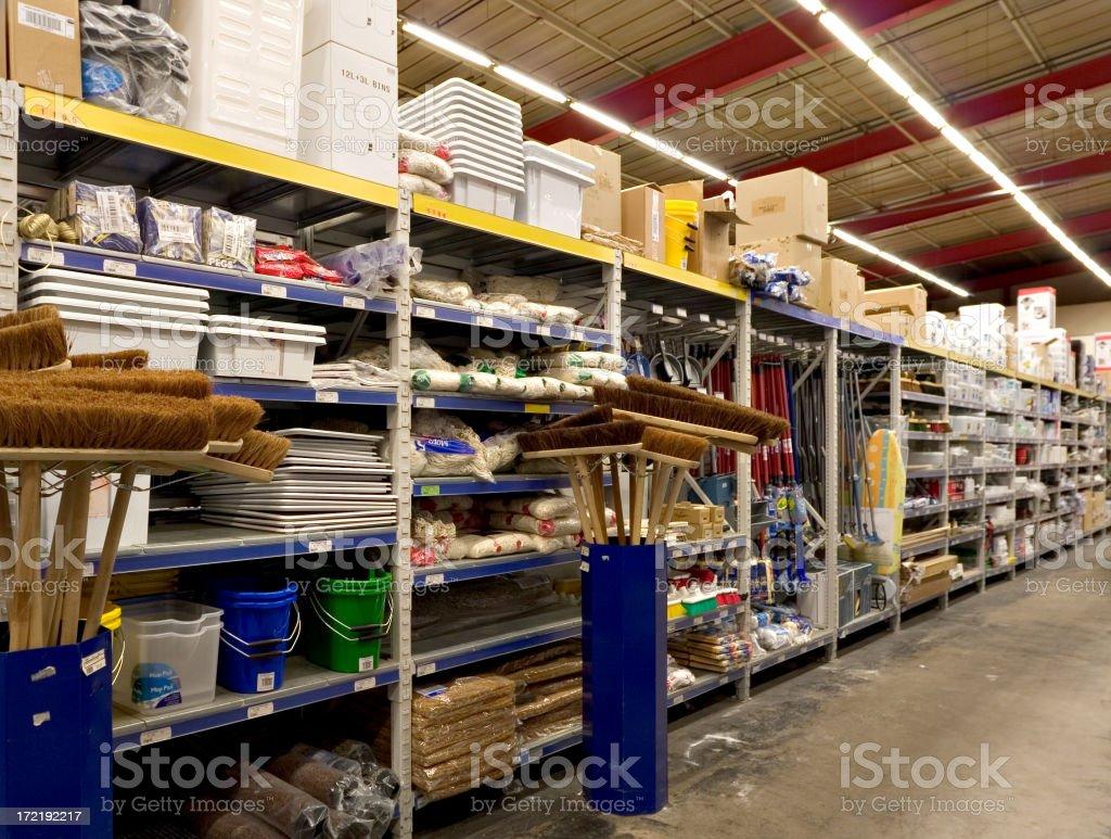Hardware Warehouse stock photo