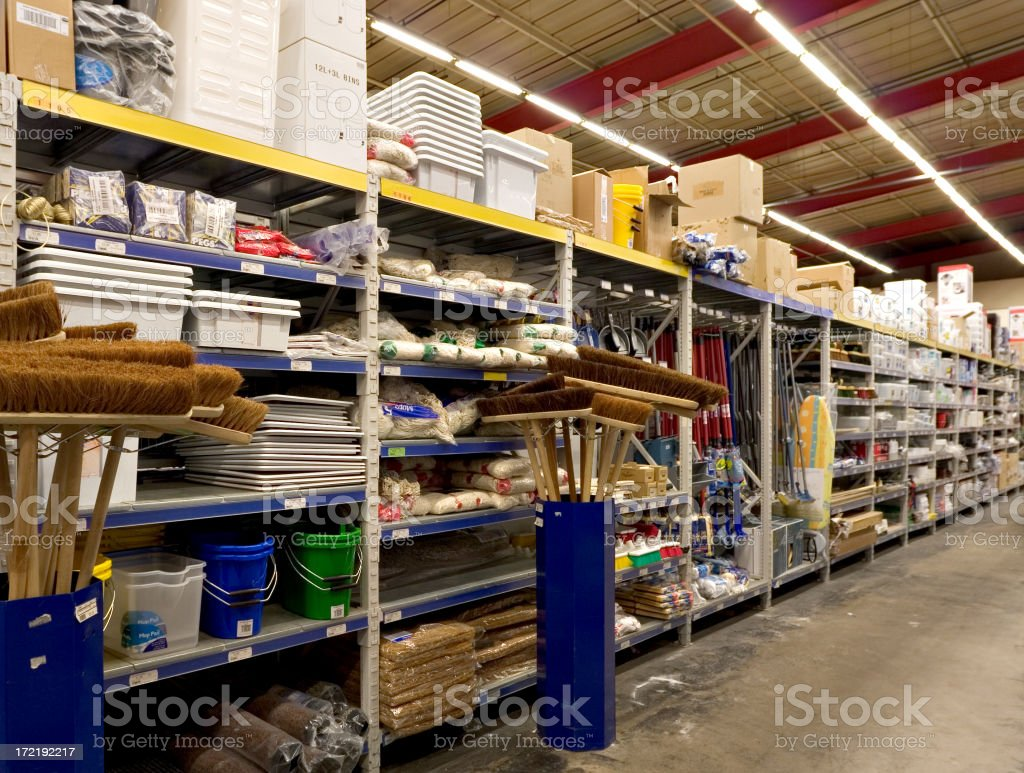 Hardware Warehouse stock photo