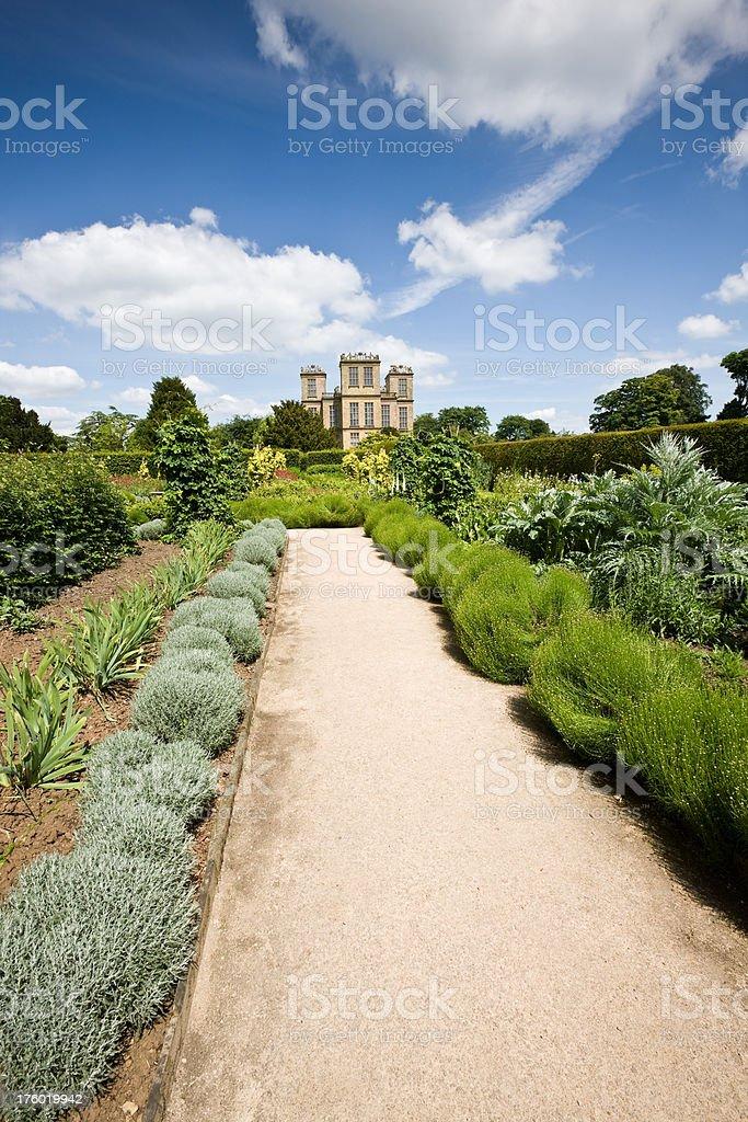 Hardwick Hall Garden Path stock photo