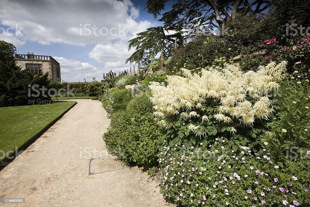 Hardwiok Hall Gardens stock photo