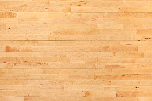 Hardwood basketball court floor viewed from above stock photo - Basketball Court Pictures, Images And Stock Photos - IStock