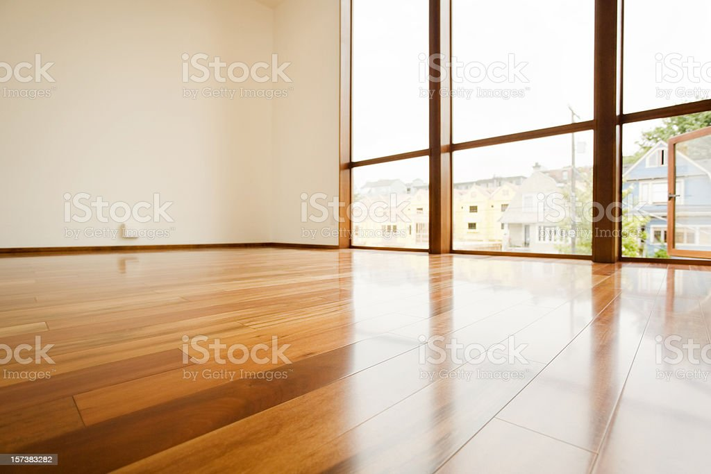 Hardwood Floor Detail stock photo