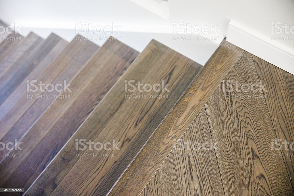 Hardwood Floor Stairs stock photo