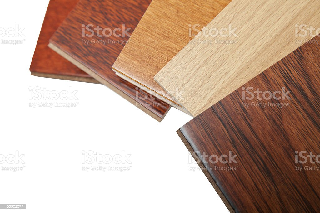 hardwood flooring samples stock photo