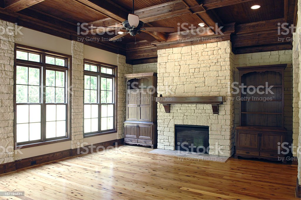 Hardwood Living royalty-free stock photo