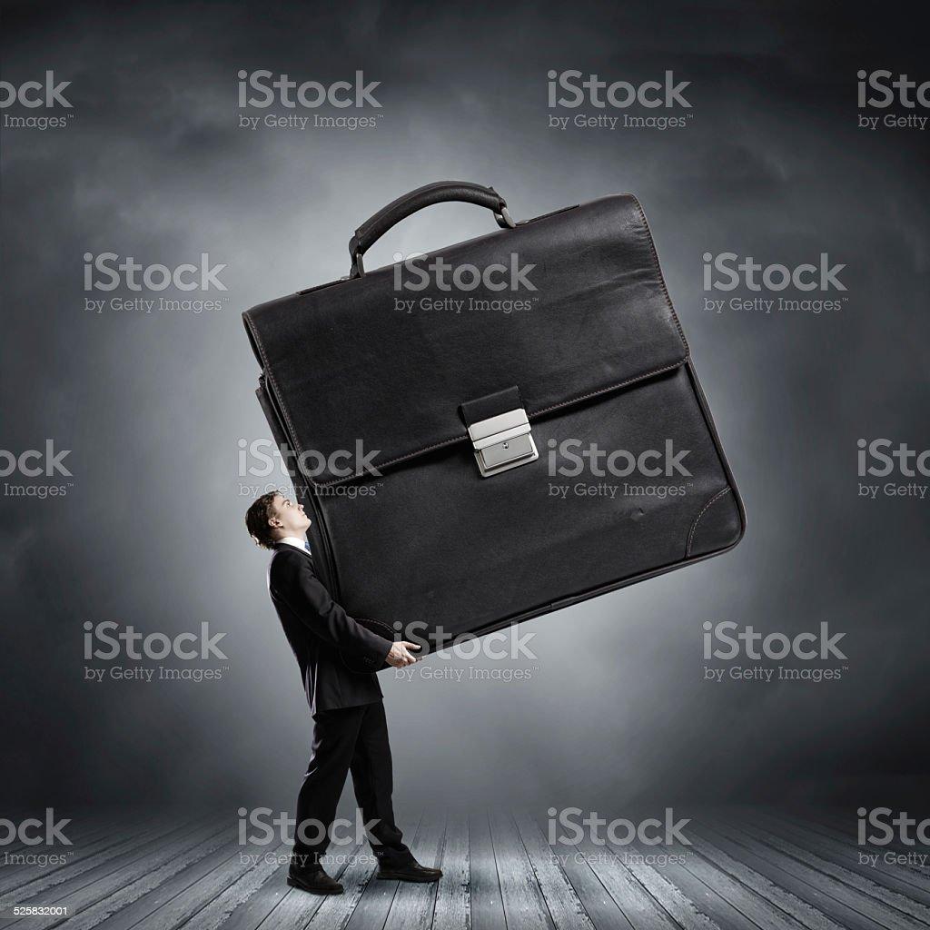 Hardworking businessman stock photo