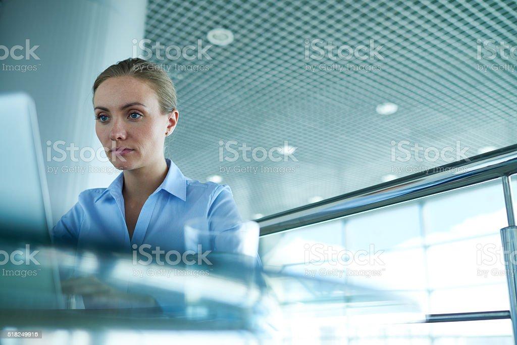 Hardworking businesswoman stock photo