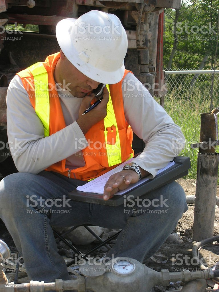 Hardworking Hydrogeologist Field Engineer Confirms Details stock photo