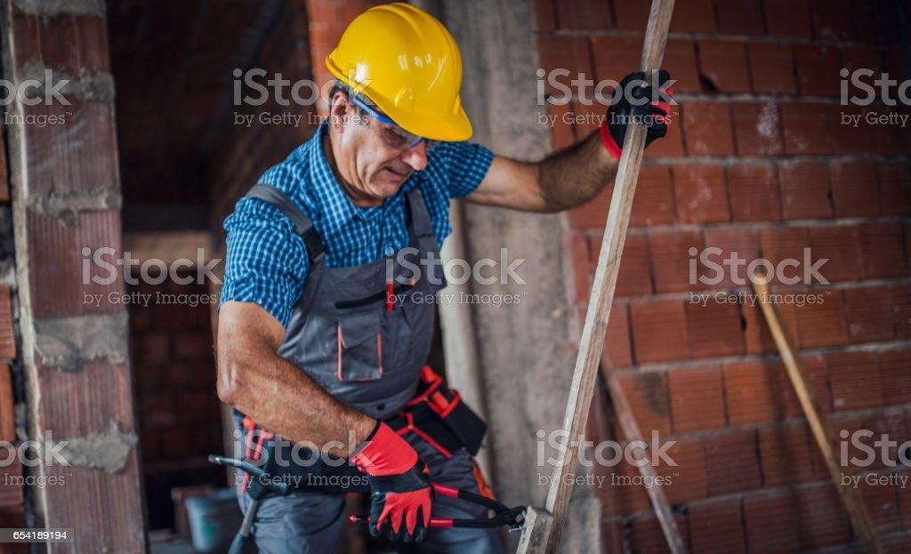 Hardworking man stock photo