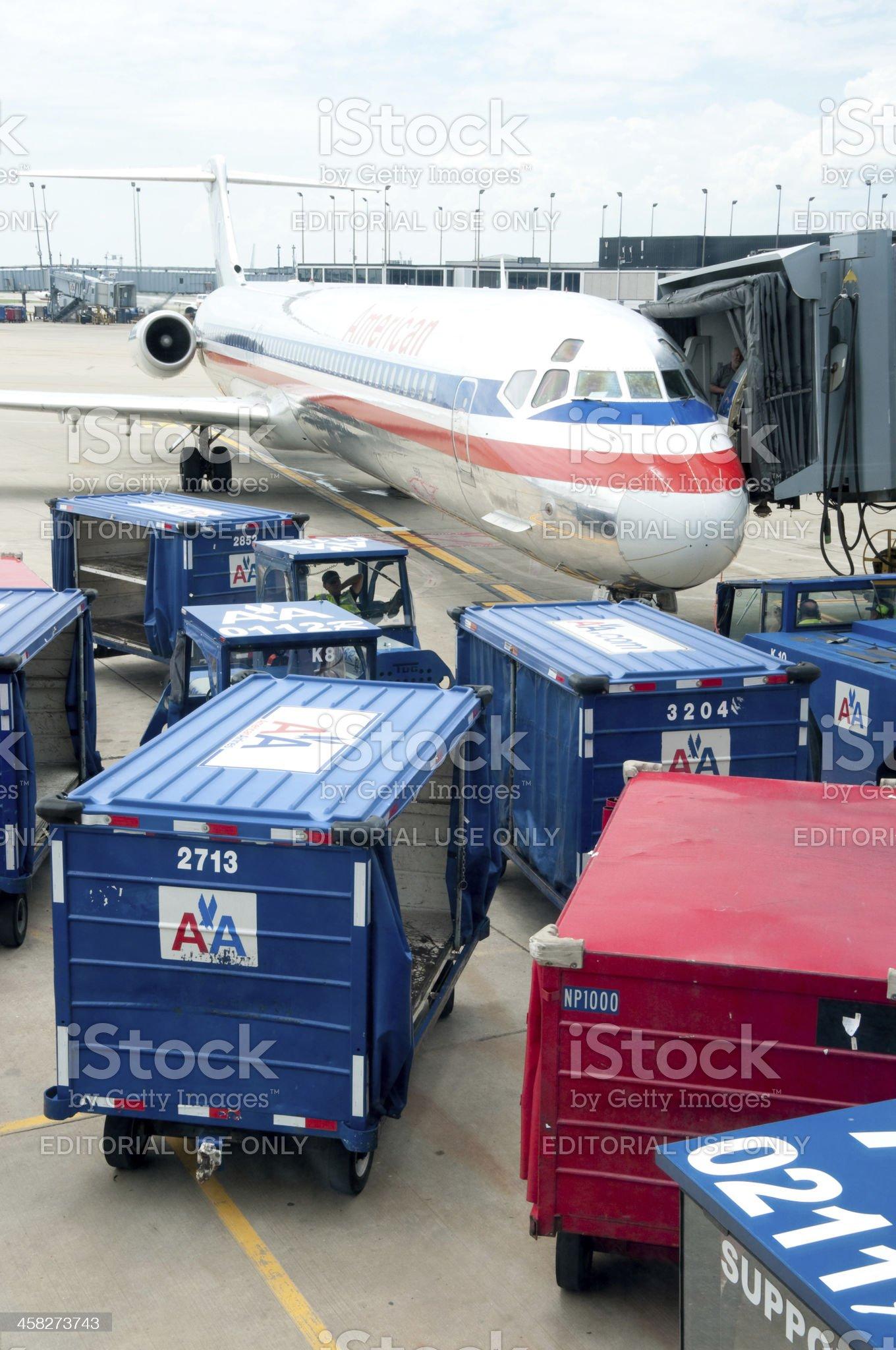 O'Hare Flight royalty-free stock photo
