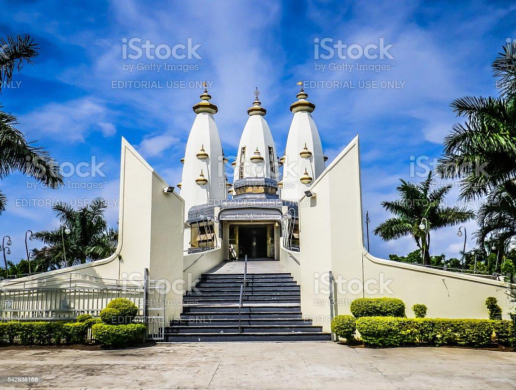 Hare Krishna Lotus Temple Durban South Africa stock photo