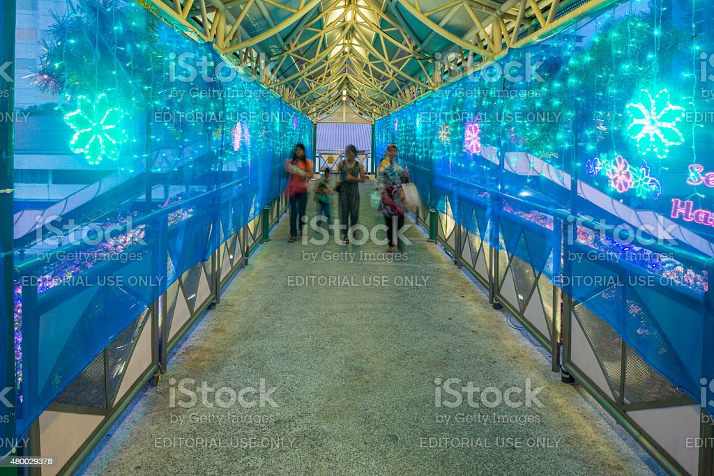 Hari Raya Bazaar at Geylang Serai, Singapore stock photo