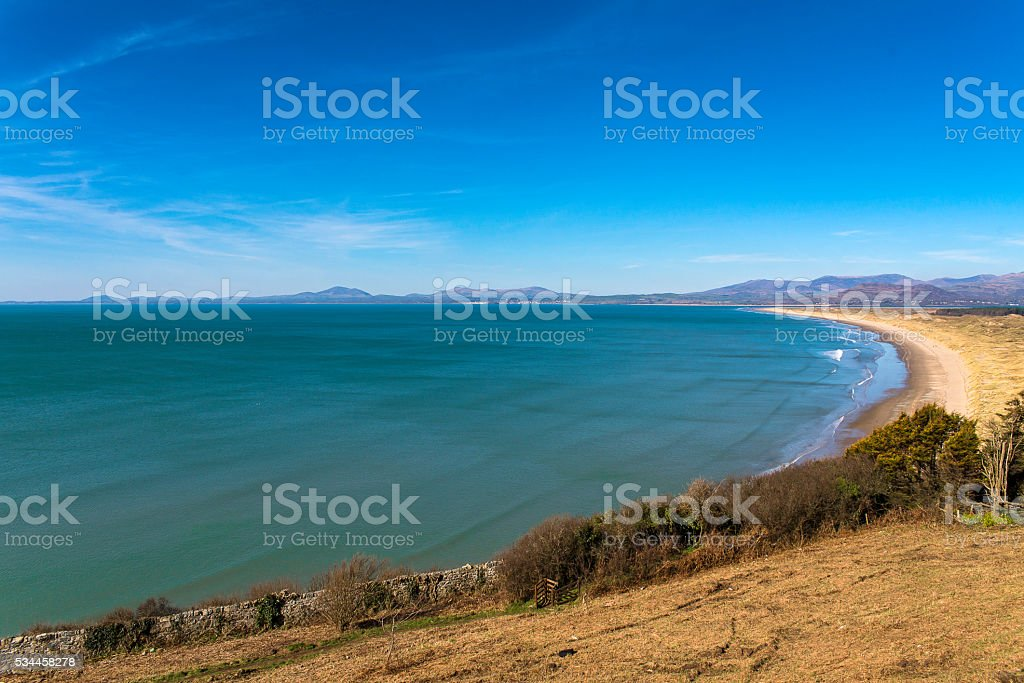 Harlech Beach stock photo