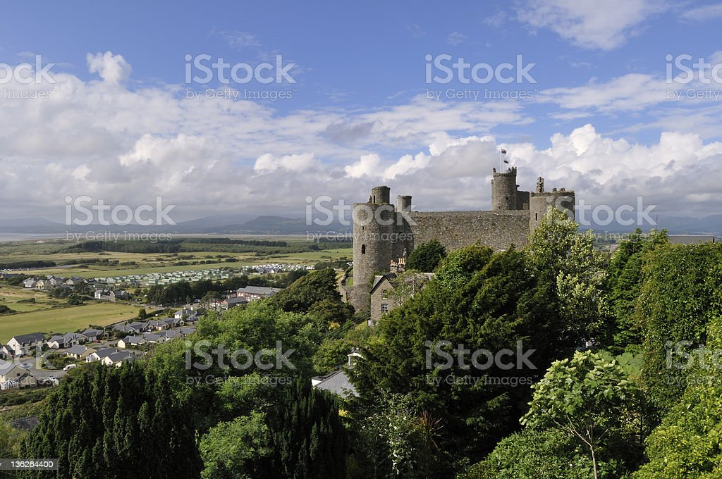 Harlech Castle royalty-free stock photo