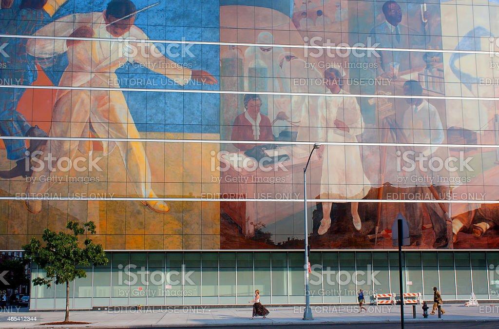 Harlem Hospital Center Murals stock photo