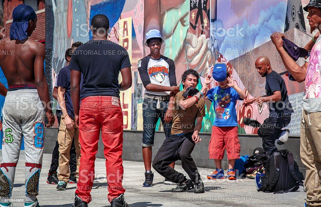 Harlem Street Dance stock photo