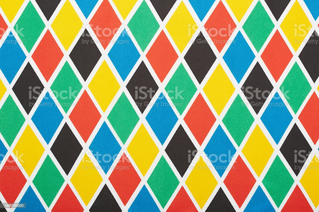 Harlequin colorful diamond pattern, texture background stock photo