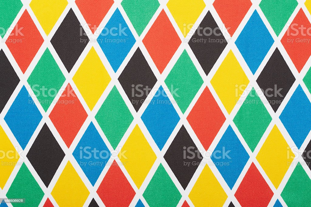 Harlequin colorful diamond texture background stock photo