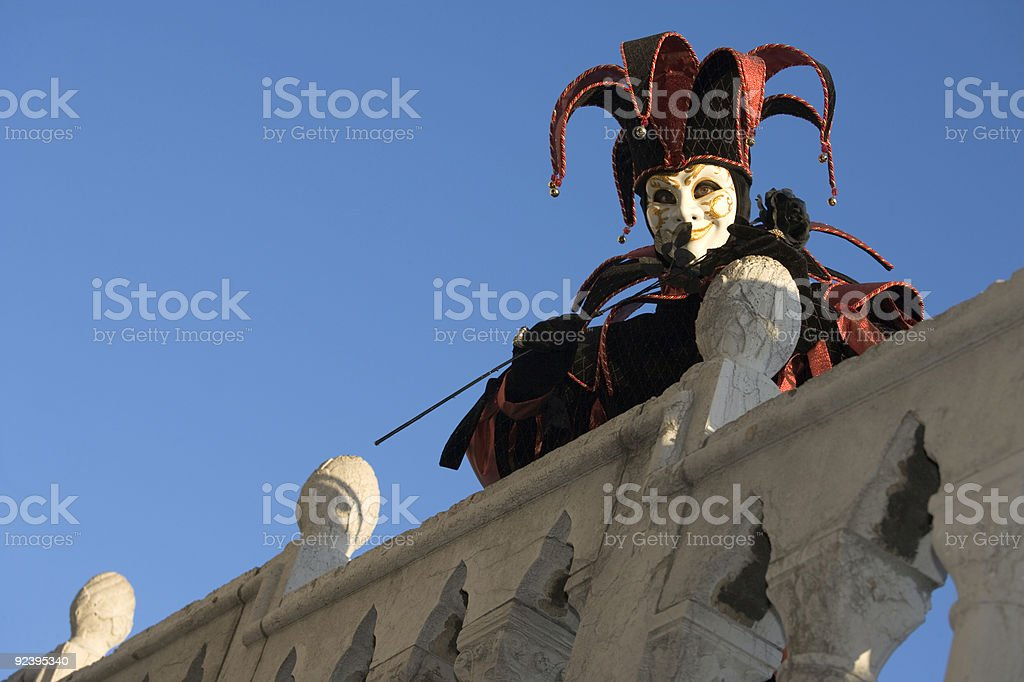 Harlequin Mask at Carnival in Venice 2008 (XL) royalty-free stock photo