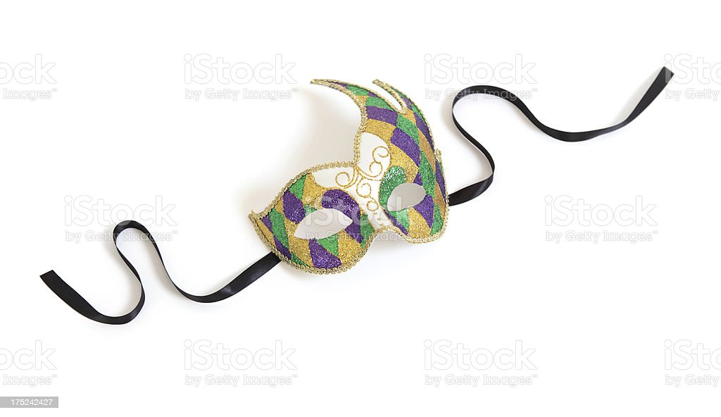 Harlequin Mask stock photo