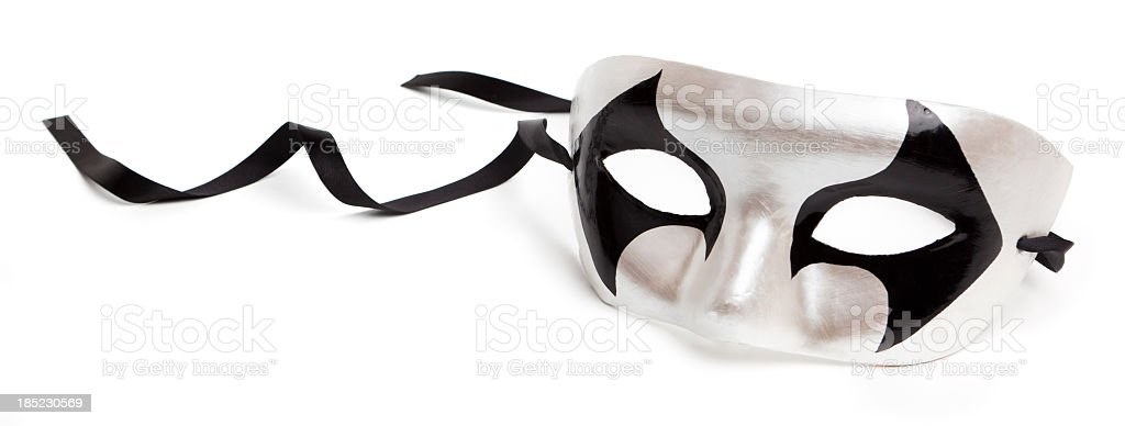 Harlequin mask stock photo