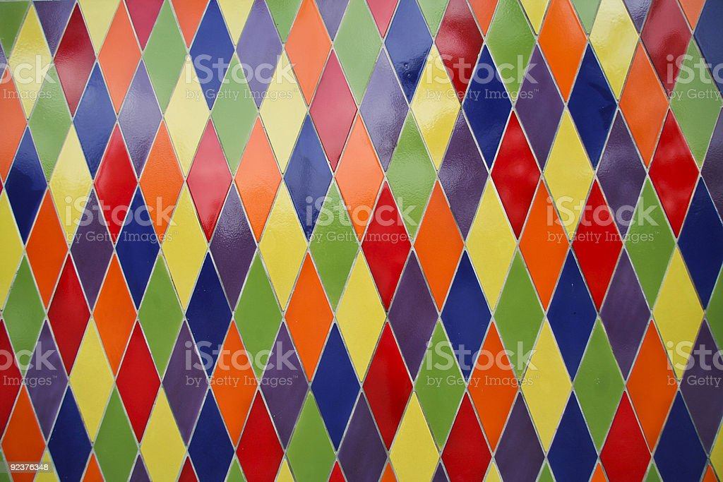 Harlequin pattern stock photo
