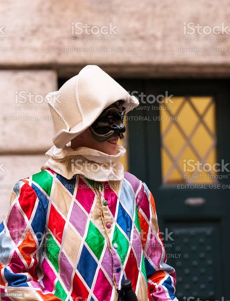 Harlequin stock photo
