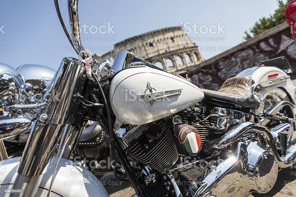 Harley Davidson Anniversary in Rome royalty-free stock photo