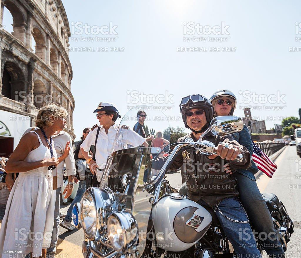 Harley Davidson Anniversary in Rome stock photo