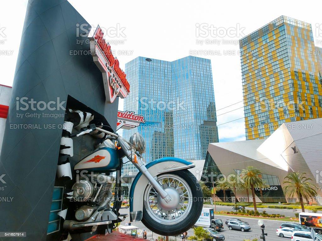 Las Vegas, USA - May 05, 2016: Harley Davidson cafe stock photo
