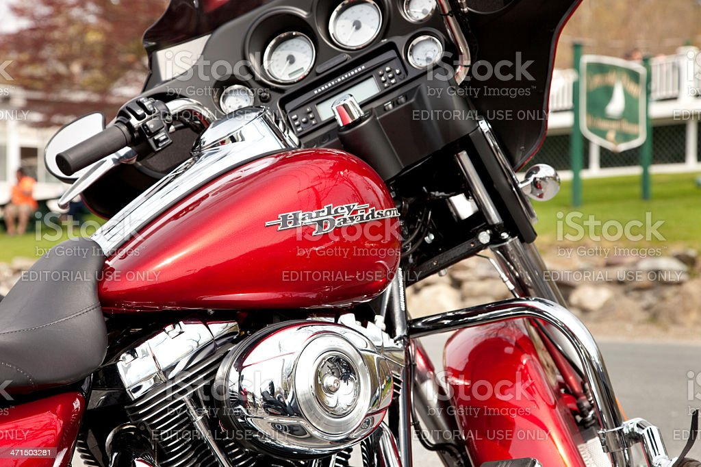 Harley Davidson gas tank and dash royalty-free stock photo