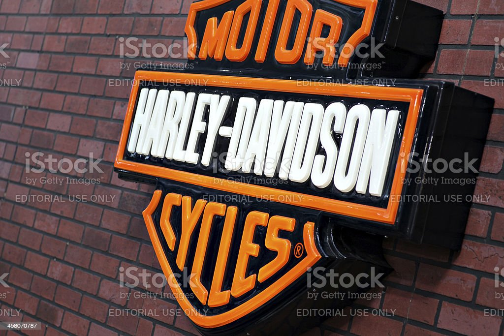 Harley Davidson logo royalty-free stock photo