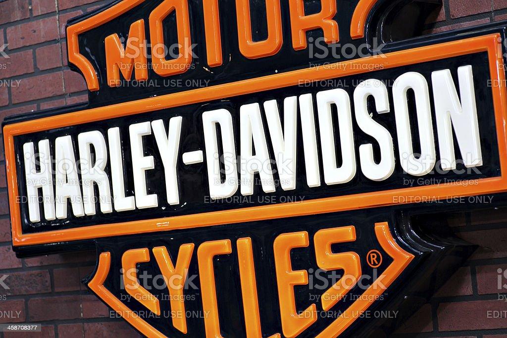 Harley Davidson logo stock photo