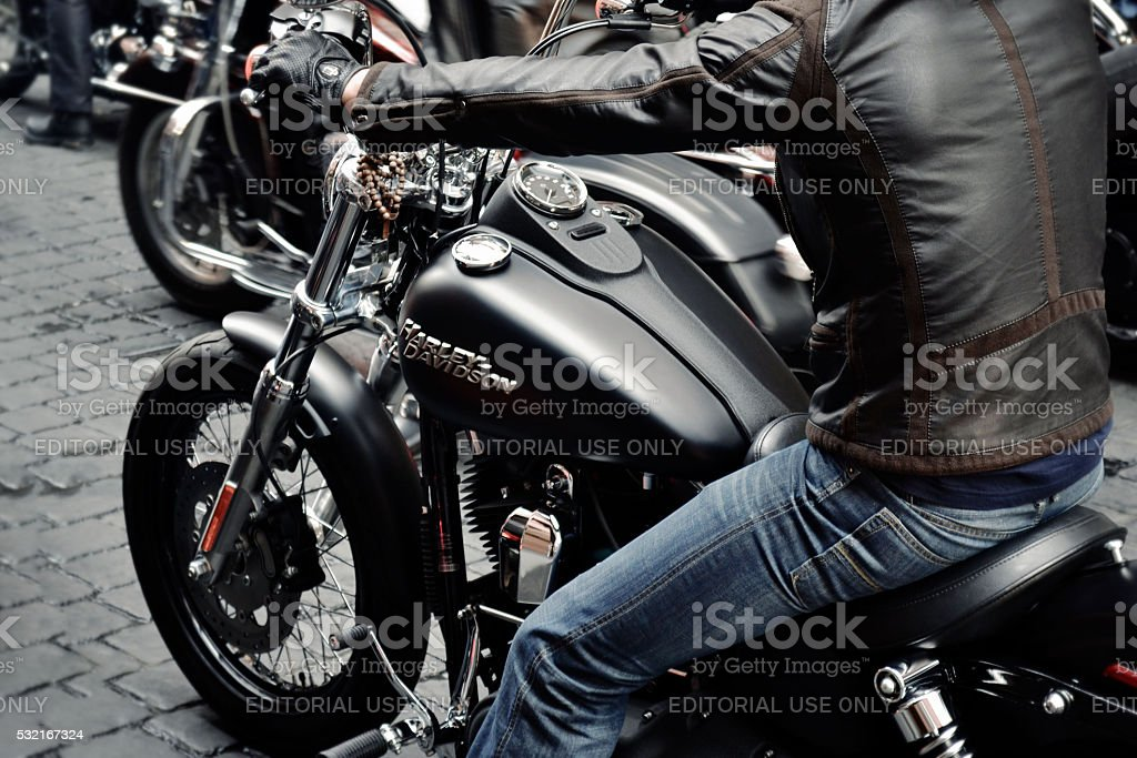 Harley Davidson Motorcycle Demo Event stock photo