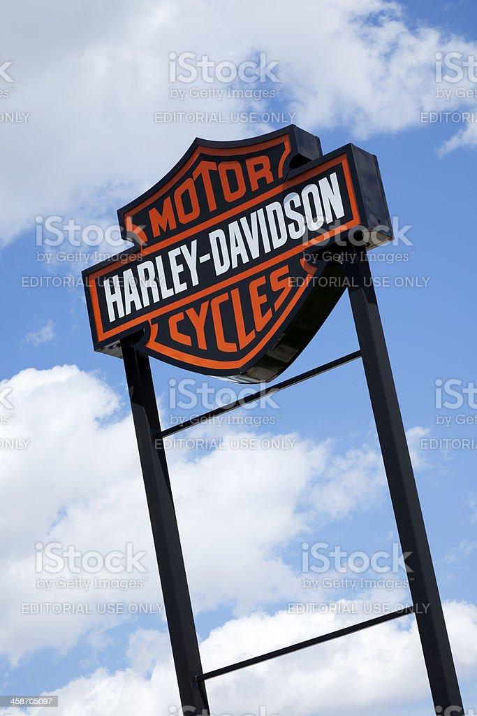 Harley Davidson Motorcycle Sign stock photo