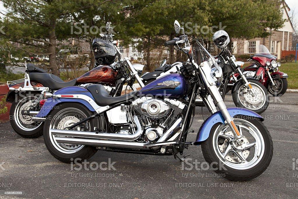 Harley Davidson  motorcycles stock photo