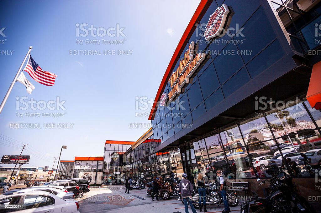Harley Davidson store, Marina Del Rey, USA stock photo